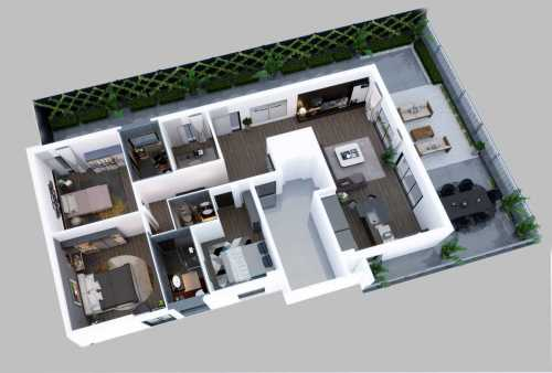 Papia - Apartment Render Top View